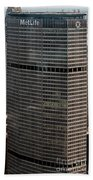 Metlife Building - 200 Park Avenue In Nyc Beach Towel