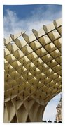 Metropol Parasol At The Plaza Of The Incarnation In Seville Spai Beach Towel