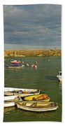 Mevagissey Outer Harbour Beach Towel