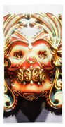 Mexican Day Of The Dead Mask Beach Towel