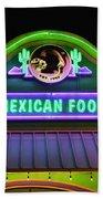 Mexican Food Beach Towel