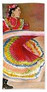 Mexico City Ballet Folklorico Beach Towel