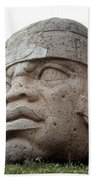 Mexico: Olmec Head Beach Towel