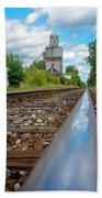 Mi New Haven Rail Road Reflections Beach Towel