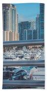 Miami Marina Beach Towel