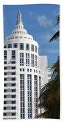 Miami S Capitol Building Beach Towel