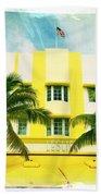 Miami South Beach Ocean Drive 2 Beach Towel