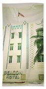 Miami South Beach Ocean Drive 3 Beach Towel