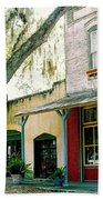 Micanopy Storefronts Beach Towel