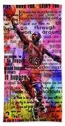 Michael Air Jordan Motivational Inspirational Independent Quotes 3 Beach Towel