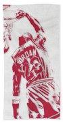 Michael Jordan Chicago Bulls Pixel Art 1 Beach Towel