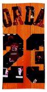 Michael Jordan Wood Art 1c Beach Sheet