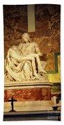 Michelangelo Masterpiece Of A Mother's Love Beach Towel