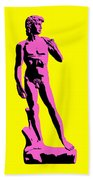 Michelangelos David - Punk Style Beach Towel by Pixel Chimp