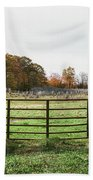 Michigan Farm And Fence  Beach Towel