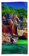 Michigan  Up Pictured Rock Kayakers 9060900109 Beach Towel