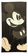 Mickey Mat Sepia Beach Towel