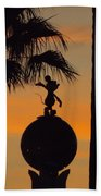 Mickey Mouse Sihouette Beach Towel