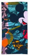 Mickey Mouse Vs. Minnie Mouse Stage On Beach Towel