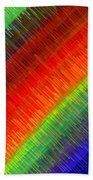 Micro Linear Rainbow Beach Towel