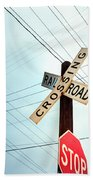 Mid West Crossroad, Usa Beach Towel