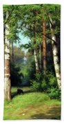 Midday Warmth In A Forest Impressionism Beach Towel
