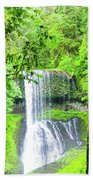 Middle North Falls 5 Beach Towel