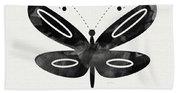 Midnight Butterfly 1- Art By Linda Woods Beach Towel