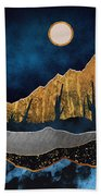 Midnight Desert Moon Beach Towel