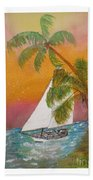 Midnight In The Gulf Of Mexico Beach Towel