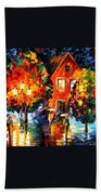 Midnight Rain Beach Towel