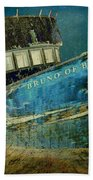 Midnight Shipwreck Beach Towel