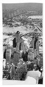 Midtown And Central Park View Beach Towel