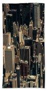 Midtown Manhattan Skyline Aerial Beach Towel