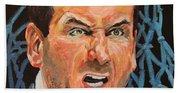 Mike Krzyzewski Aka Coach K Portrait Beach Towel
