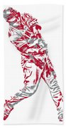 Mike Trout Los Angeles Angels Pixel Art 20 Beach Towel
