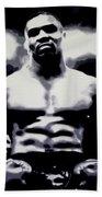 Mike Tyson Beach Towel by Luis Ludzska