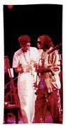 Miles Davis Image 10 And Bob Berg 1985 Your Under Arrest Tour Beach Towel