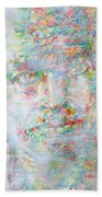 Miles Davis - Watercolor Portrait.4 Beach Towel