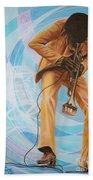 Miles Davis  In A Yellow Suit Beach Towel