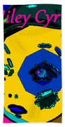 Miley Cyrus At Five With An Attitude Print Beach Towel