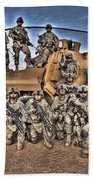 Military Police Pose For This Hdr Image Beach Towel
