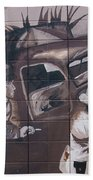 Military Truck Street Art Beach Towel