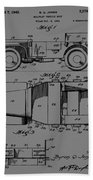 Military Vehicle Body Patent Drawing 1d Beach Towel