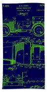 Military Vehicle Body Patent Drawing 1e Beach Towel