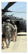 Military Working Dog Handlers Board Beach Towel