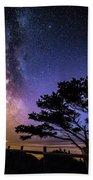 Milky Way In Newport, Or Beach Towel