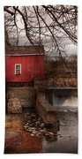 Mill - Clinton Nj - The Mill And Wheel Beach Towel by Mike Savad