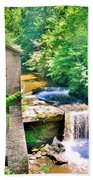 Mill Creek Park Lanterman's Mill And Covered Bridge Beach Towel