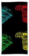 Millennium Falcon Poster Beach Towel